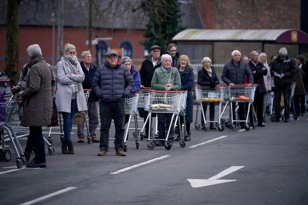 Christmas queues at local stores