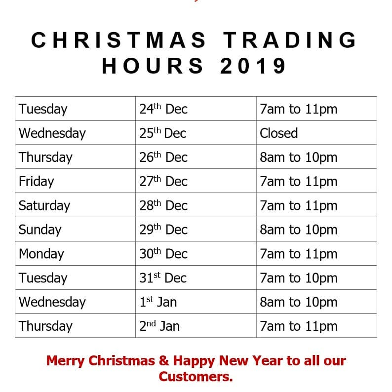 Christmas Hours on Social Media Post