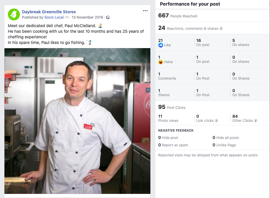 Daybreak Greenville uses team imagery on their social to help boost a community feel