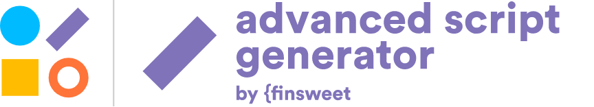 Logo generador de scripts para Webflow