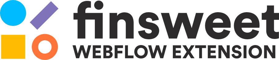 Logo extensión Finsweet para Webflow