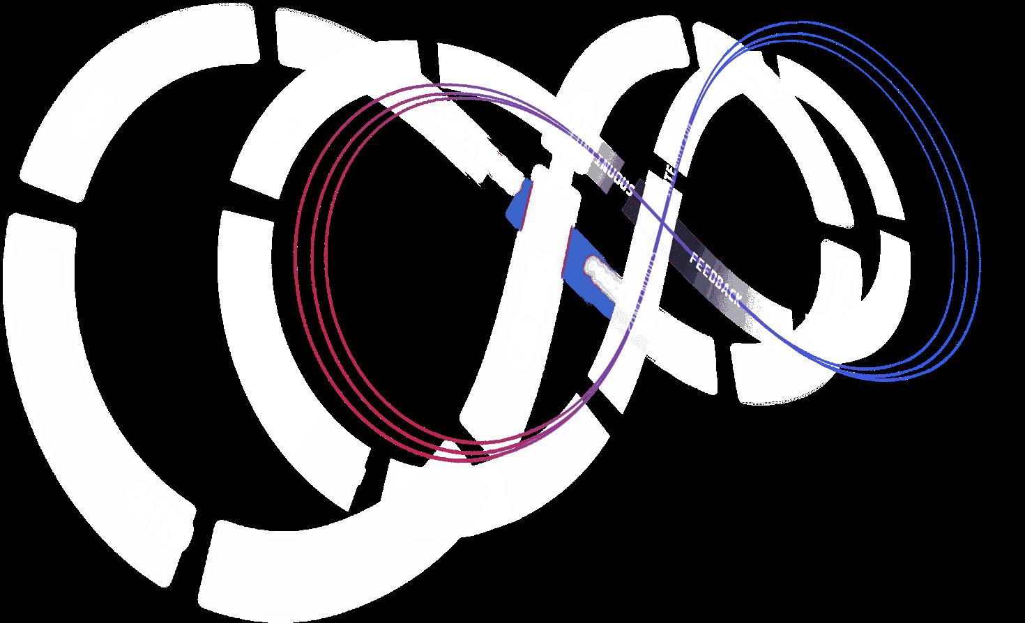 Ilustración futurista de DevOps