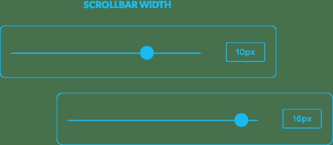 Control de los estilos de la barra de scroll.
