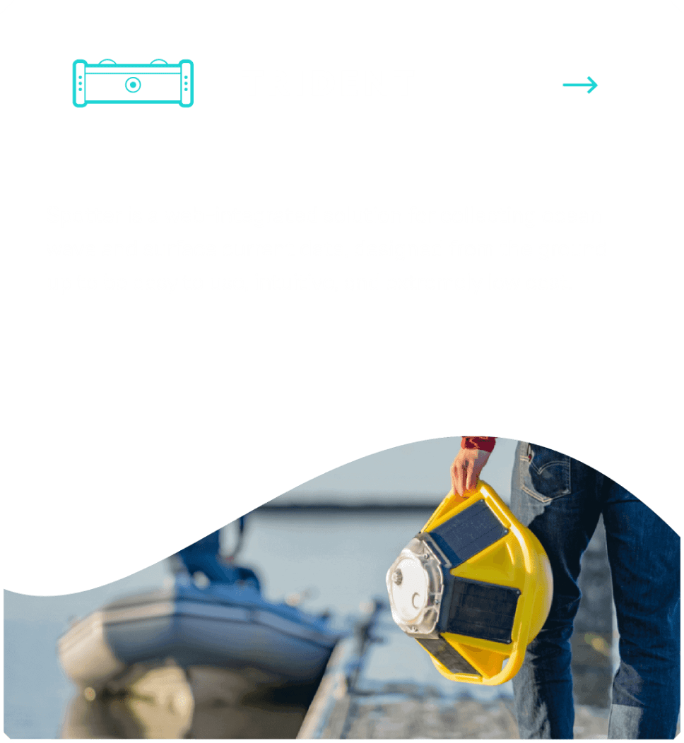 Diseño web de tarjeta para el dron acuático de Sofar Ocean por El Patio Webflow Studio