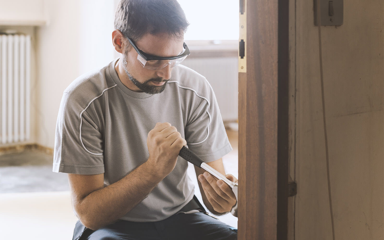 Carpentry work on domestic renovation project