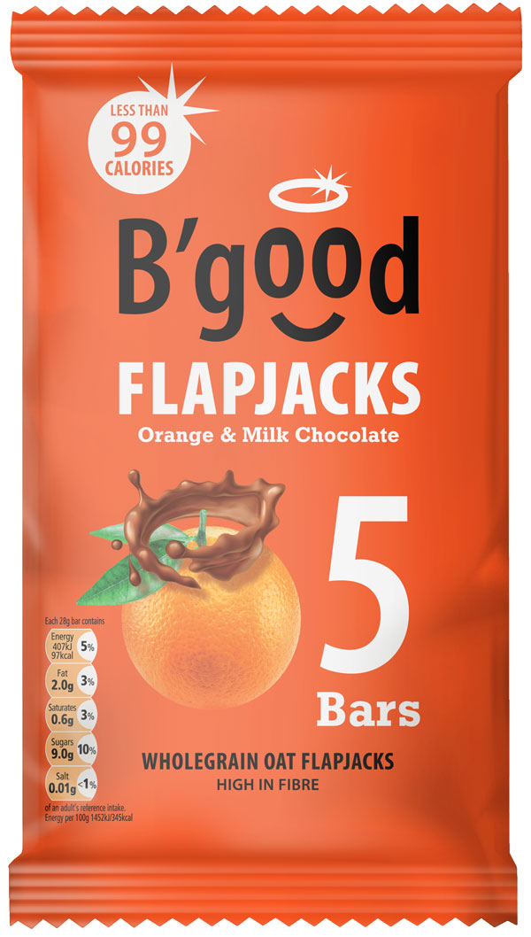 B'good Orange & Milk Chocolate Flapjack Bar