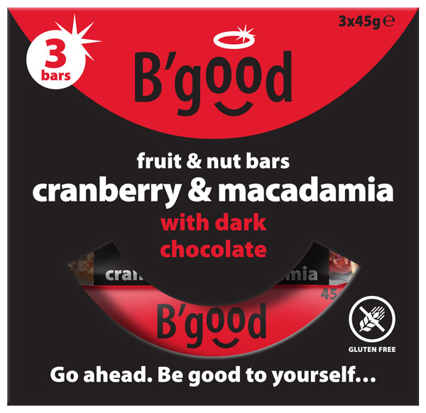 BGood Cranberry & Macadamia Fruit & Nut Multipack