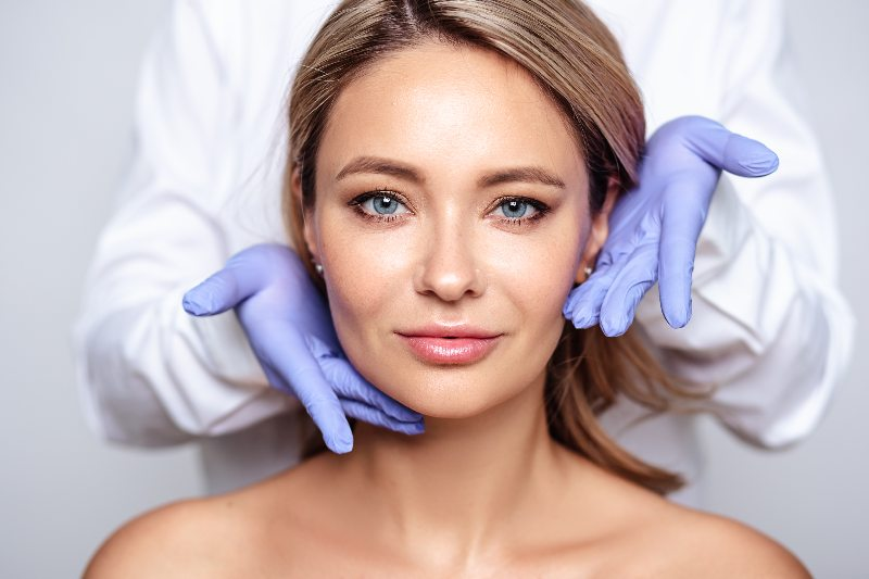 lady with botox