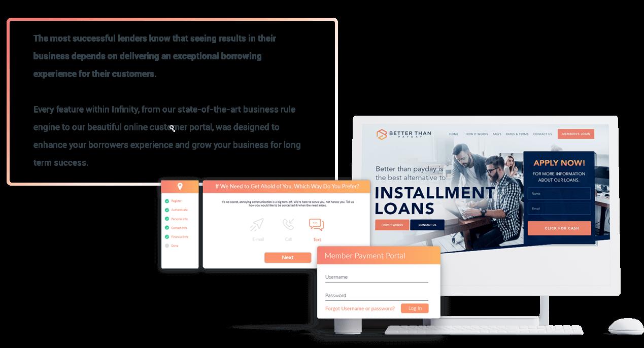 Infinity software online customer portal