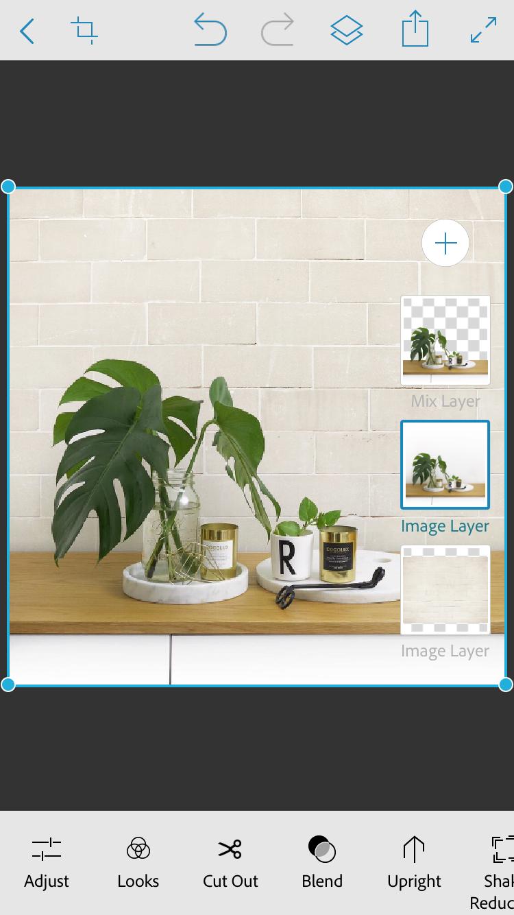 ajuste as camadas alterando o fundo da foto no Photoshop Mix