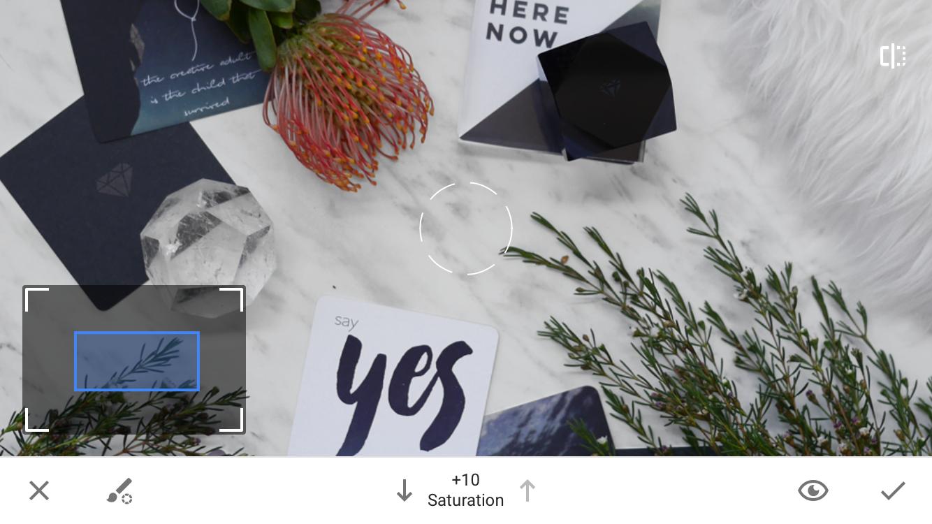 zoom para usar o pincel para editar a imagem no instantâneo