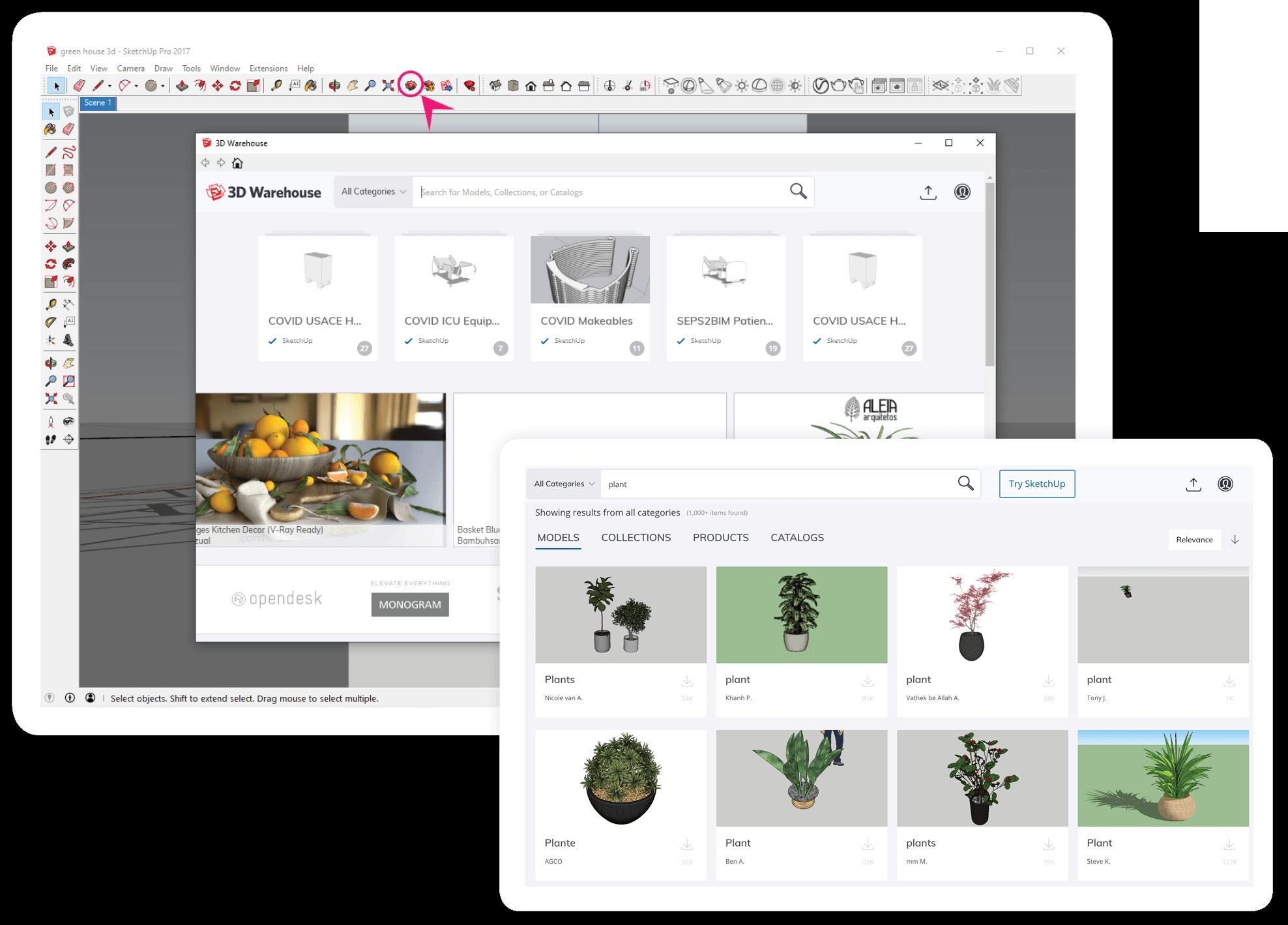 O Armazém 3D torna a criação eficiente por ter uma enorme biblioteca de componentes para escolher