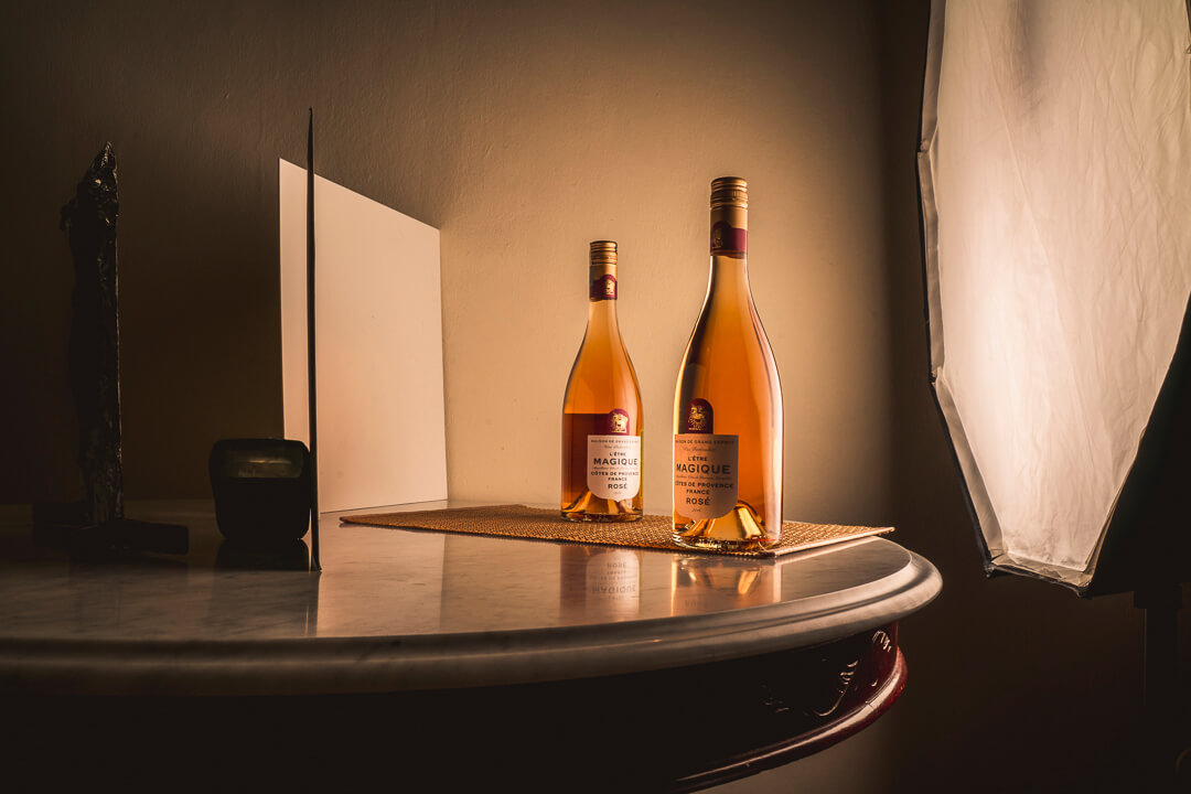 Techniques to get a flawless finish photographing wine bottles