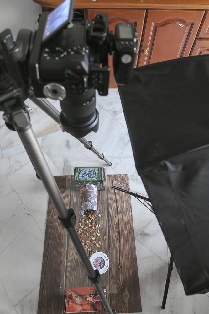 tutorial de fotografia de comida flutuante