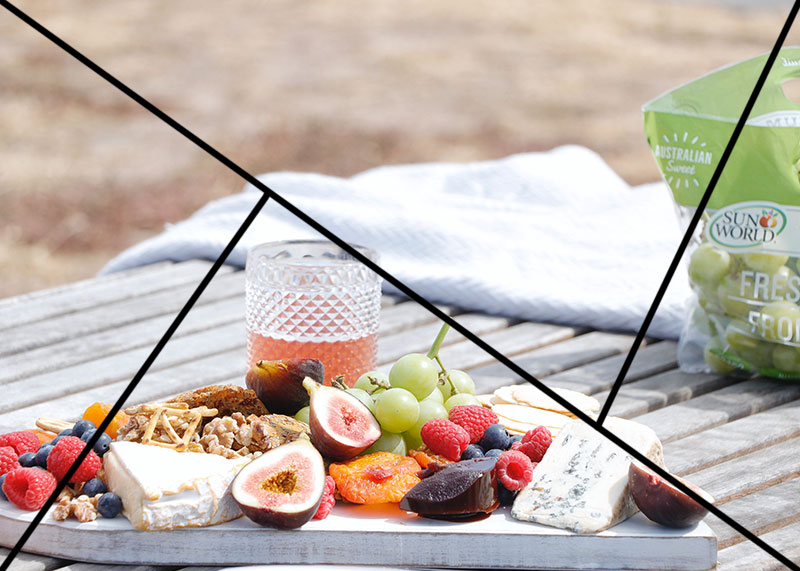 técnicas de composição - fotografia de alimentos - triangulo