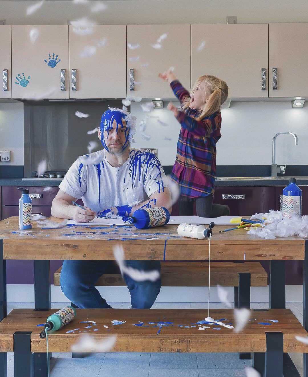 Meet the Mum and Dad duo creating playful, tongue-in-cheek photos of everyday family life