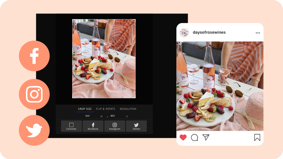 Create Ready to Post Assets With In-Platform Image Editing