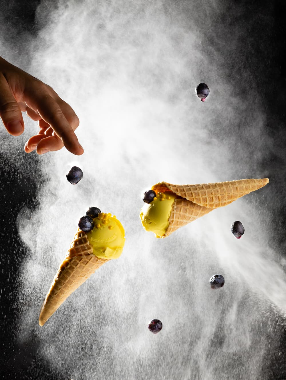 Raid your pantry to add drama and atmosphere to your next photo using flour