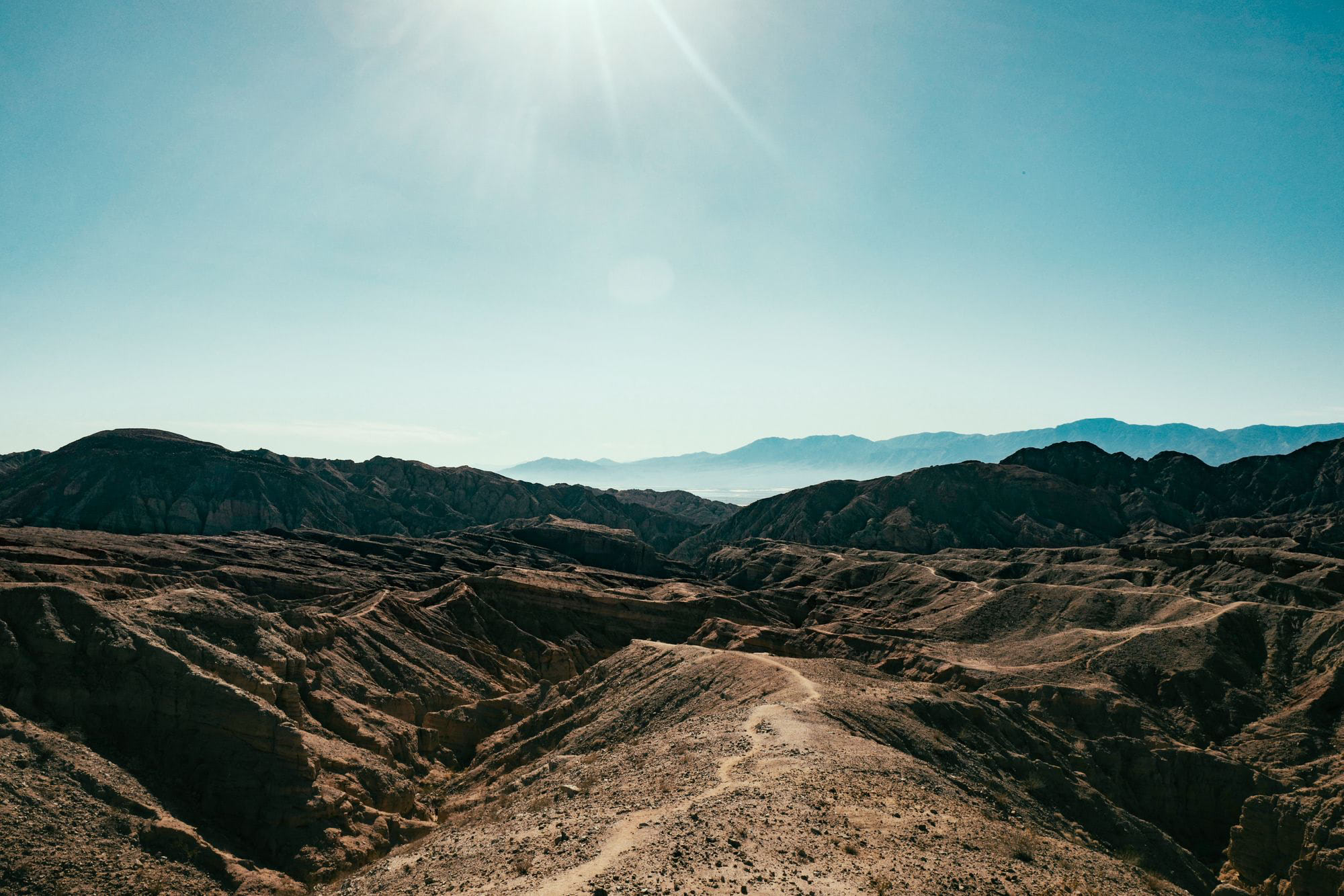 View from the top of the Painted Canyons hike in Mecca, CA.