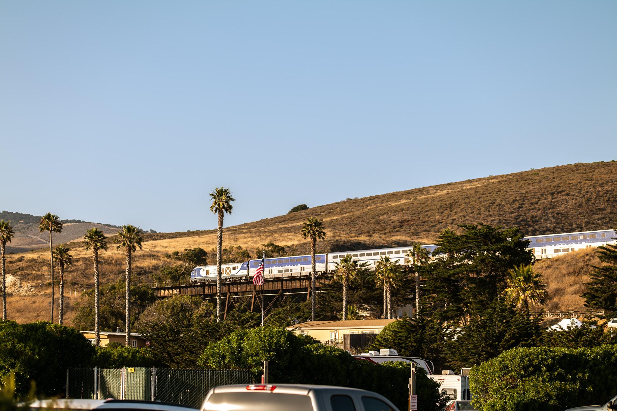 Surfliner Train passing through.