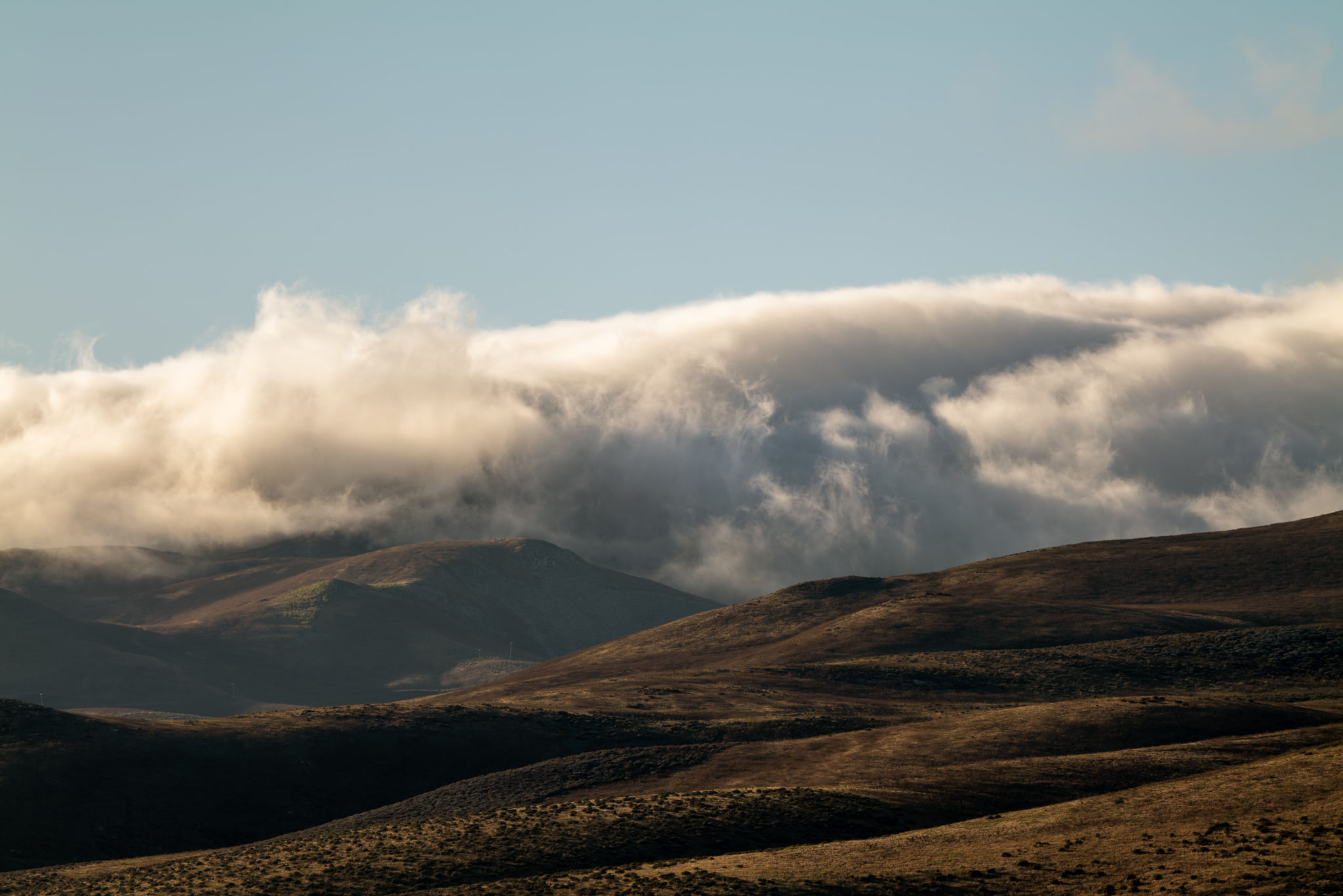 Clouds rolling over the mountains just South of Vandenberg Air Force Base