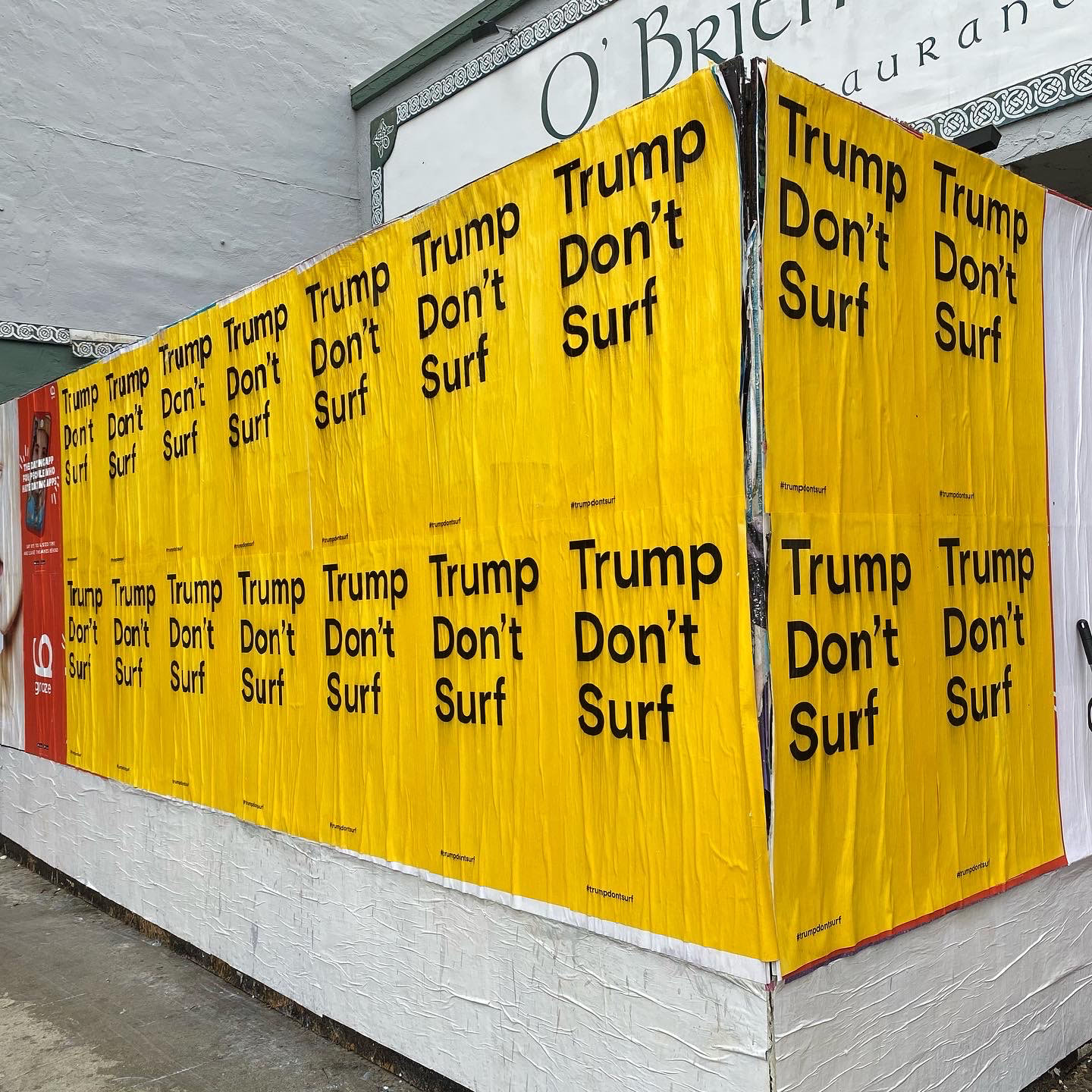 Trump Don't Surf Poster Close up