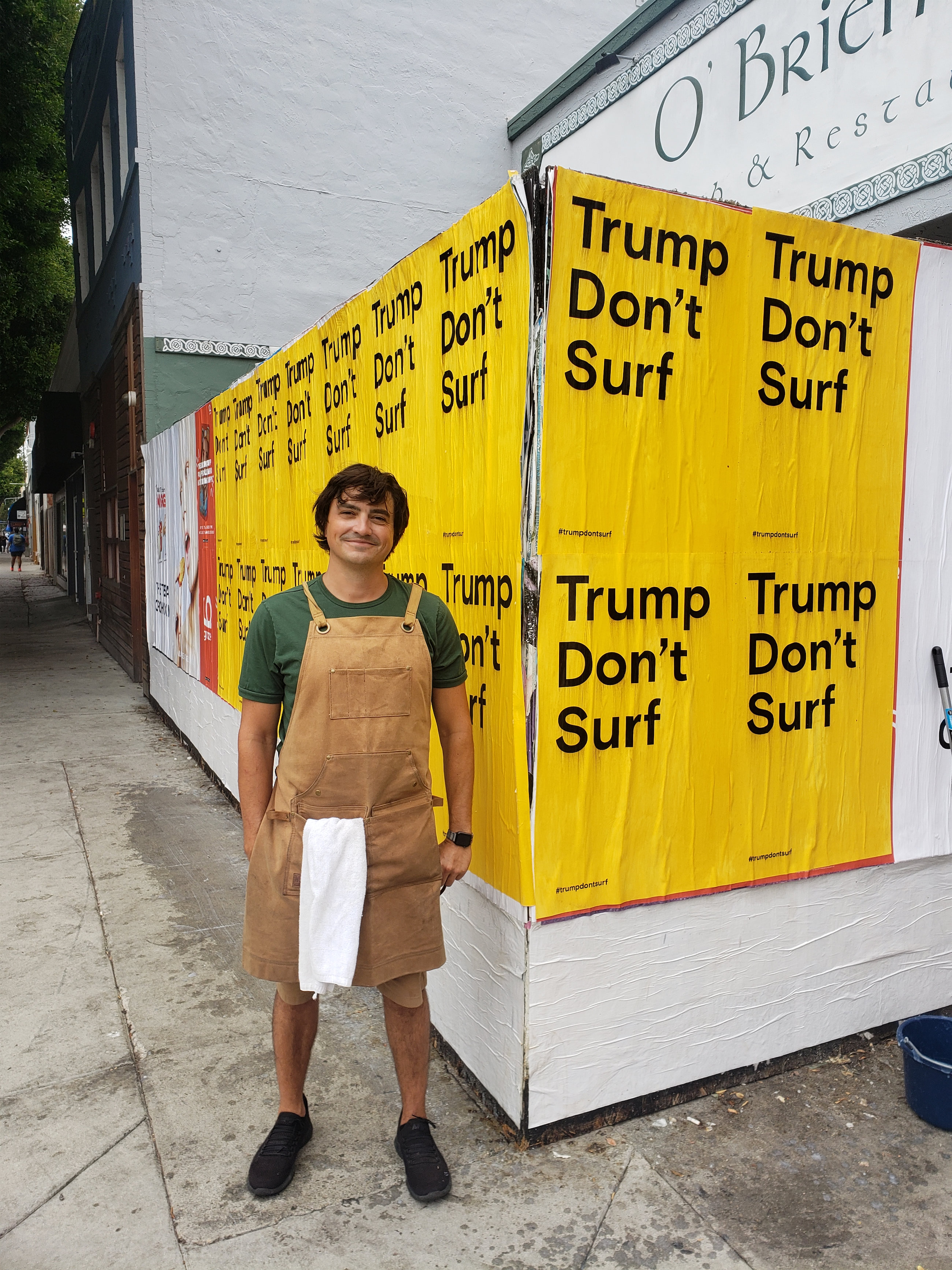 Trump Don't Surf Berry standing proud
