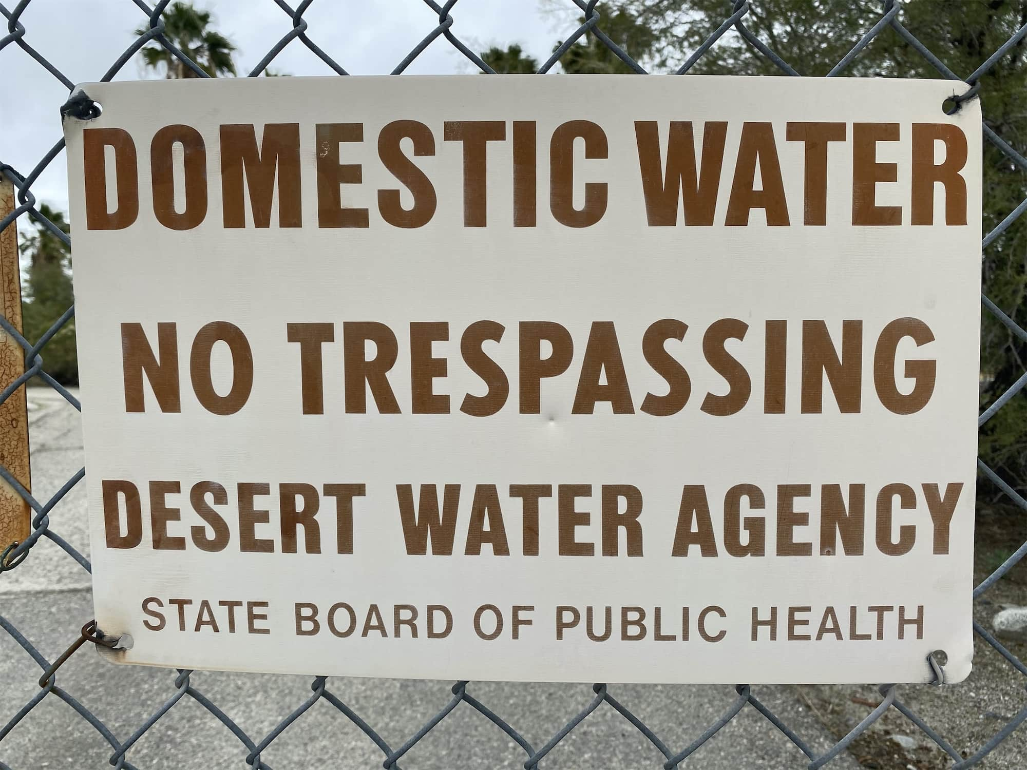 Domestic Water Sign