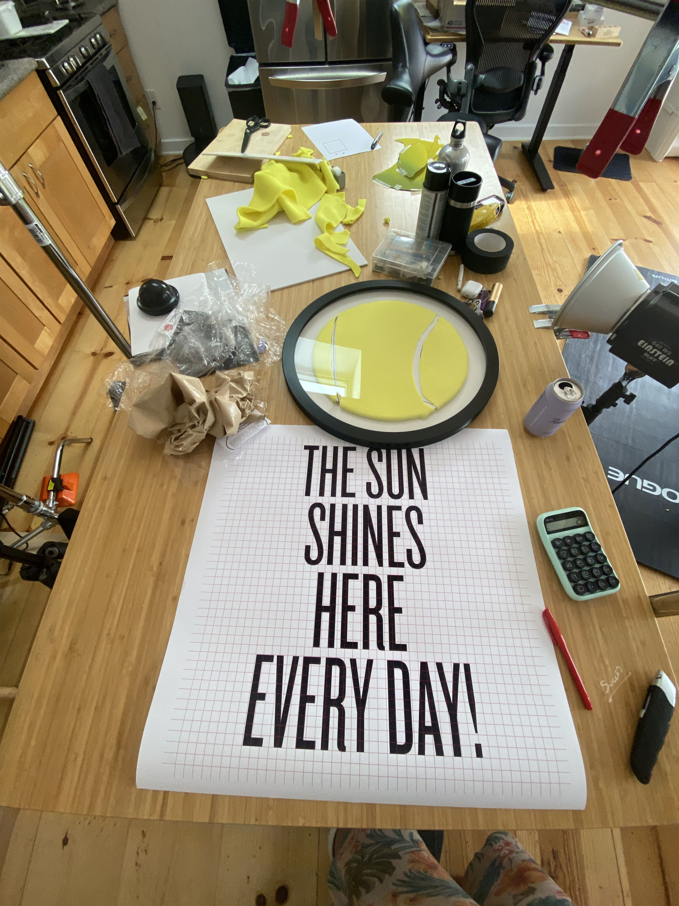 sun shines here every day grid preparation in the studio