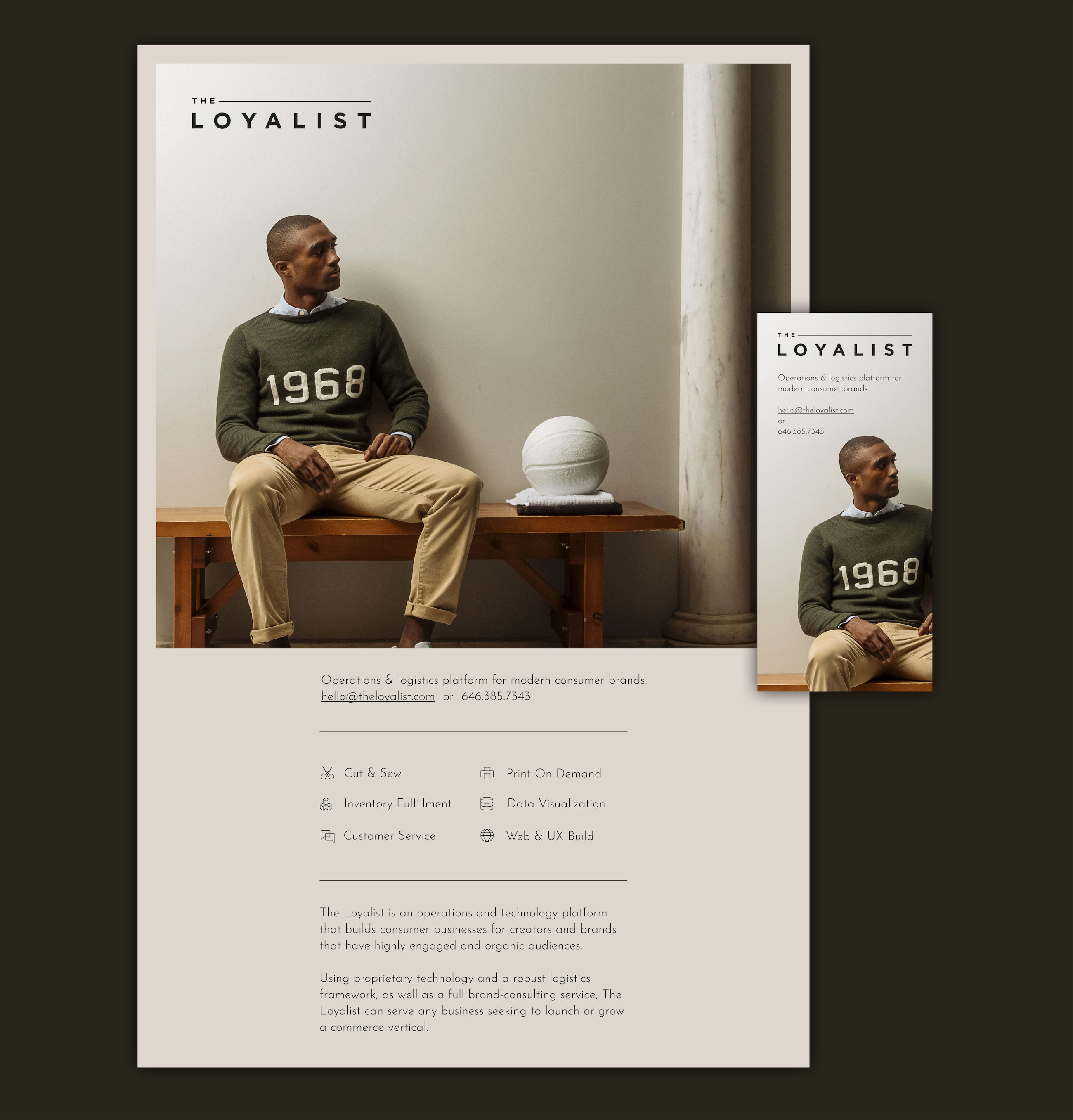 The Loyalist Splash Page Design