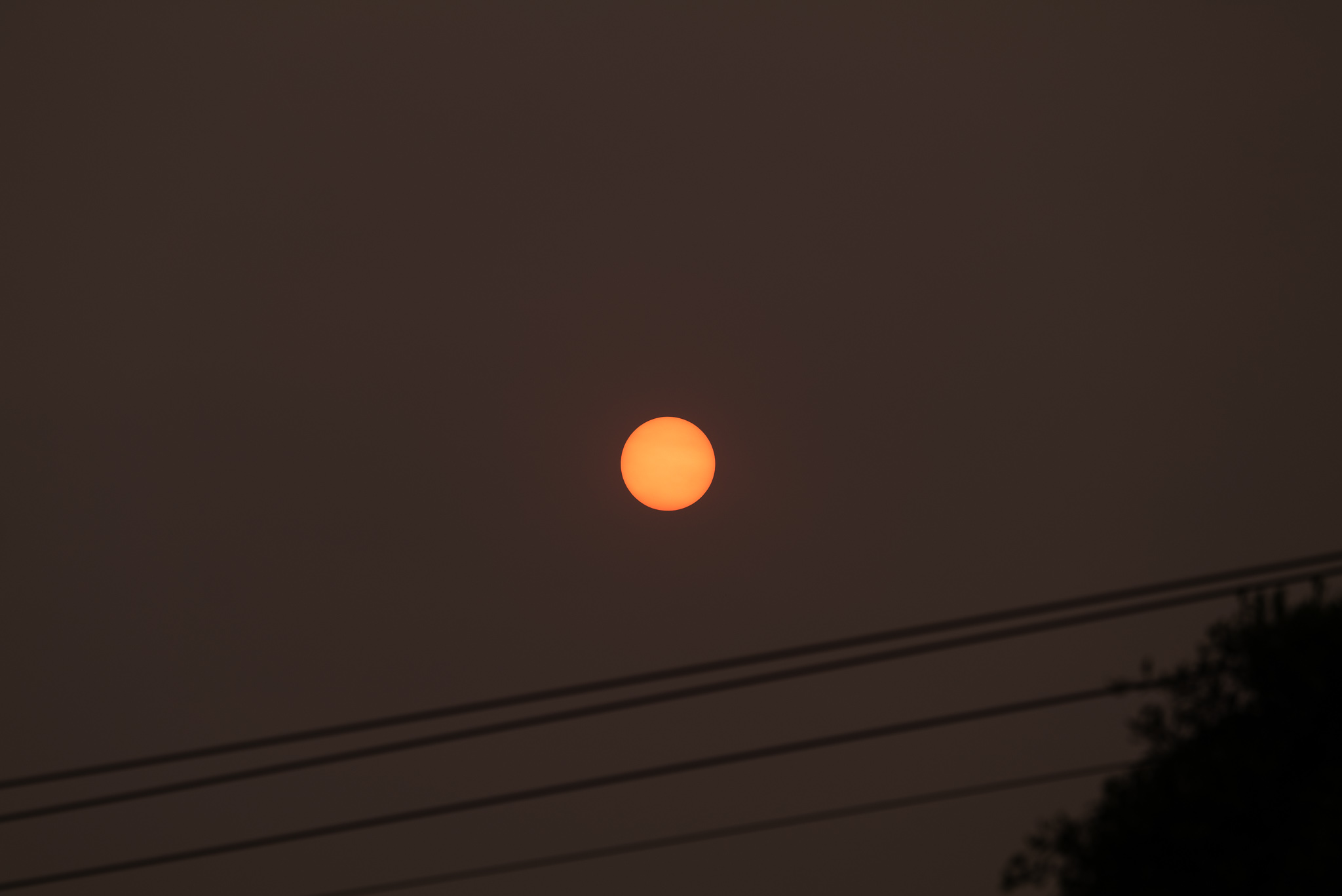 The unedited photo out of the camera. Smoky sun.