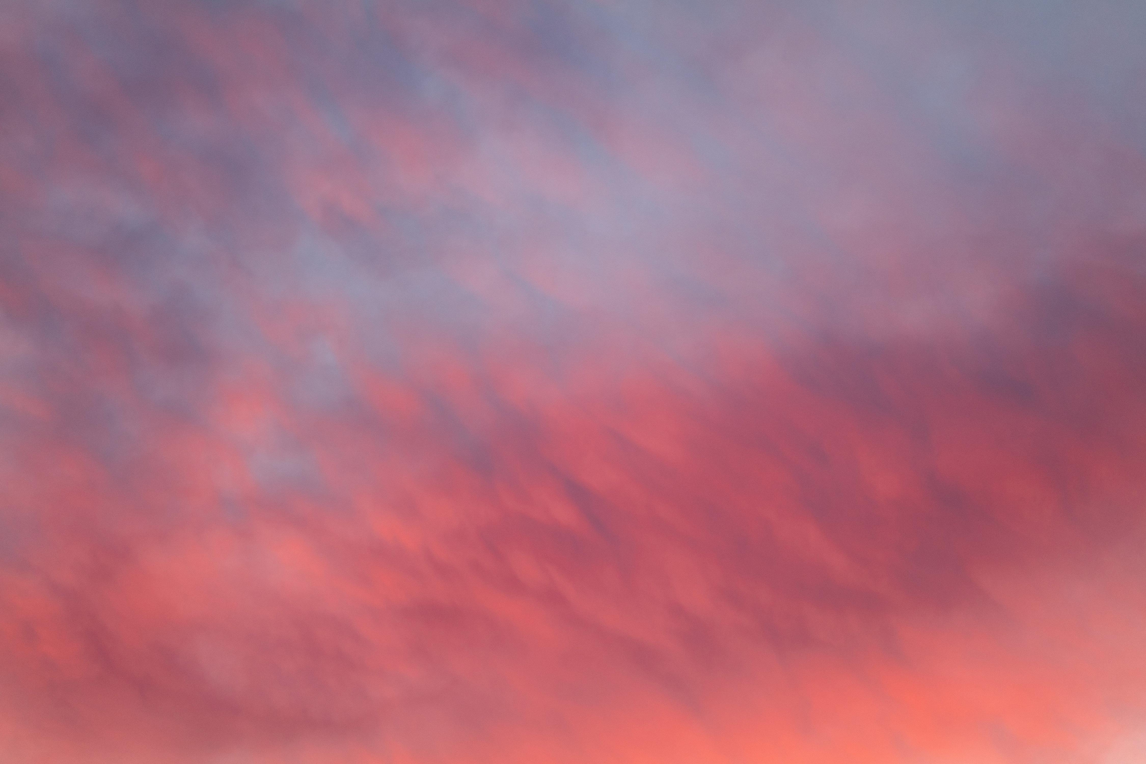 Velvet pink and blue sky