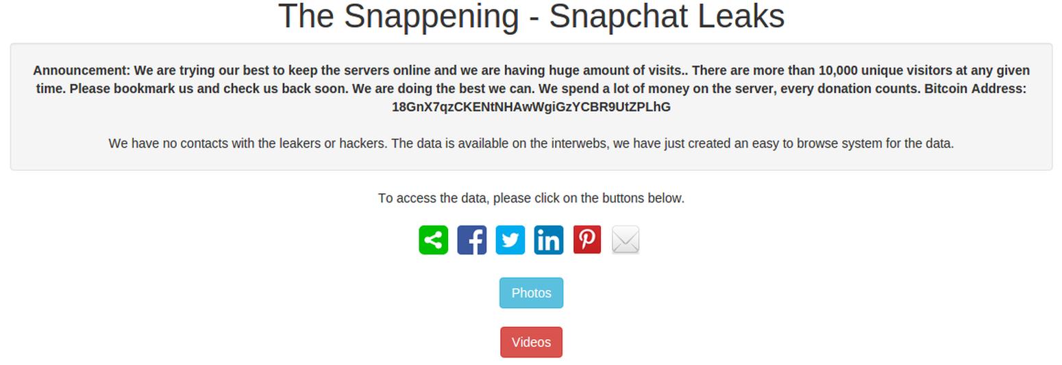 snapchat hacked