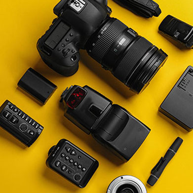 Rent camera gear, accessories and equipment