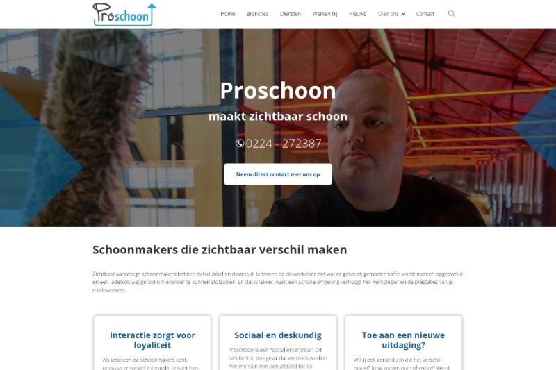 De website van Proschoon is gemaakt door reclamefabriek