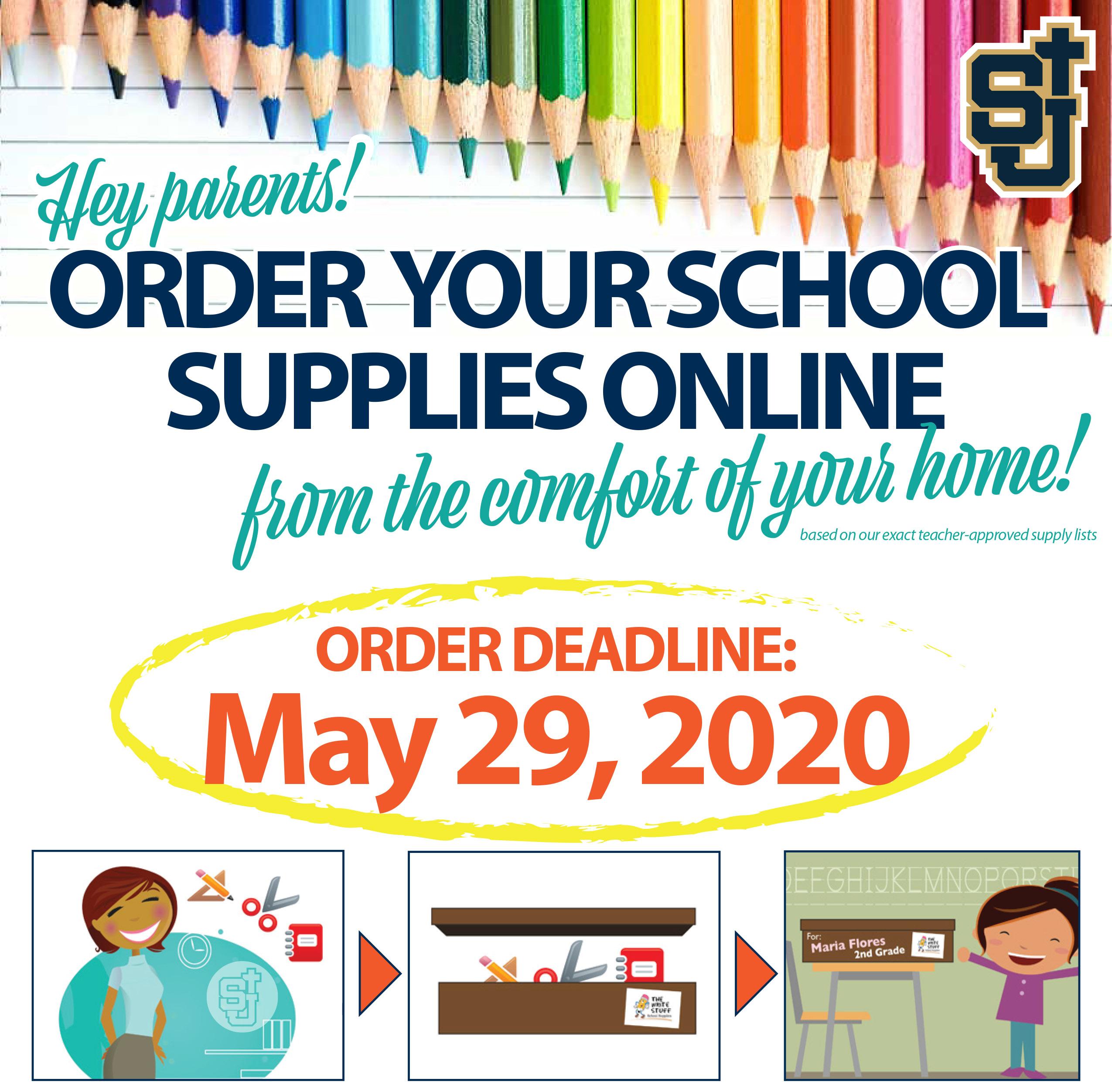 School Supplies Picture Christian Academy in Orange CA