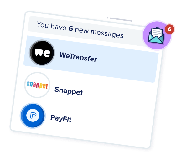 Card showing companies who have messaged a developer.
