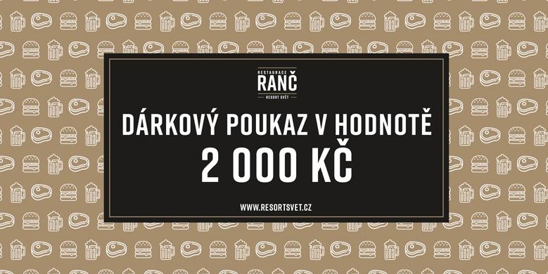 Dárkový poukaz v hodnotě 2000 Kč do Restaurace Ranč. Platí také pro Bistro Ranč.