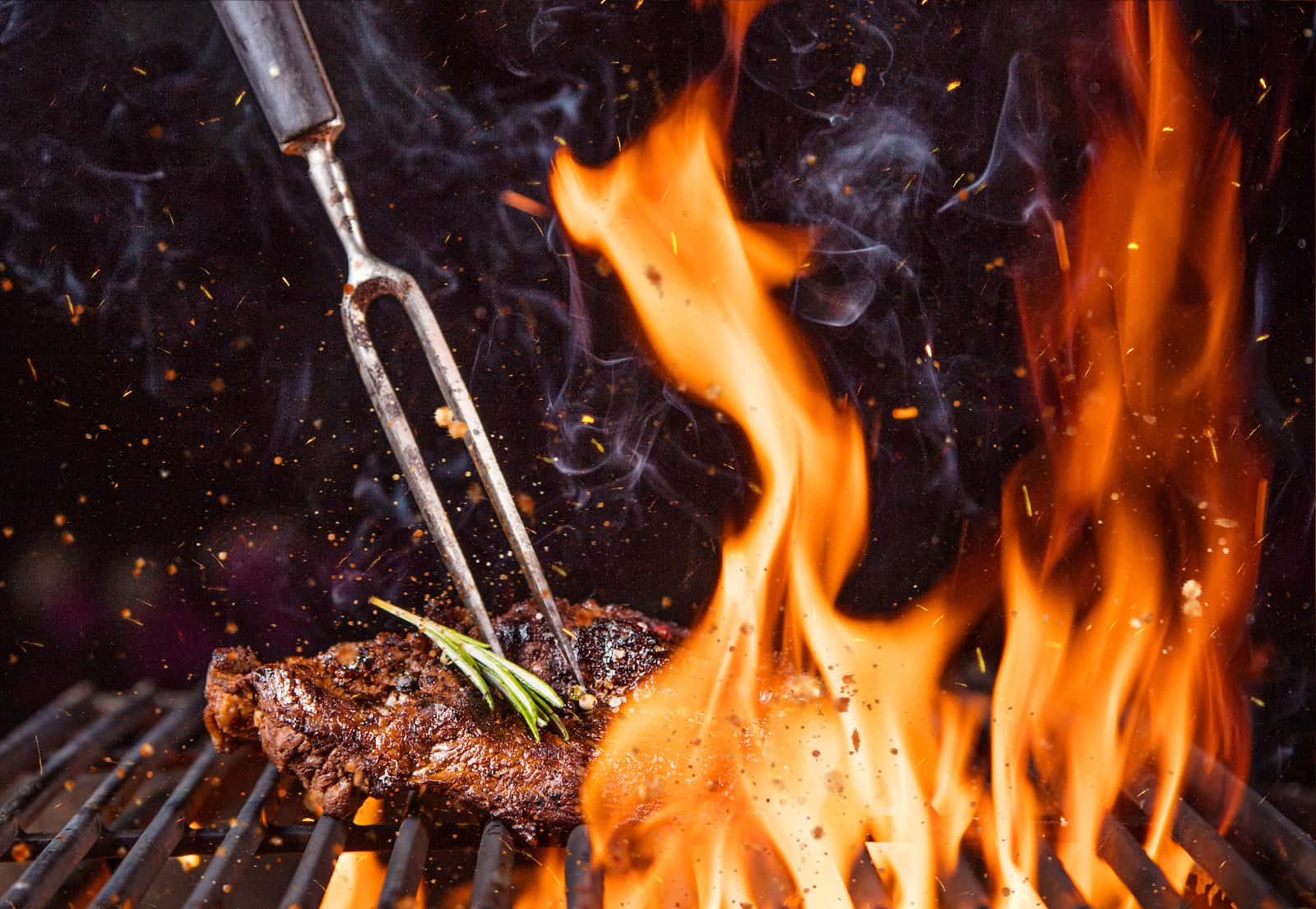 Grilované maso a steaky v Bistro Ranč.