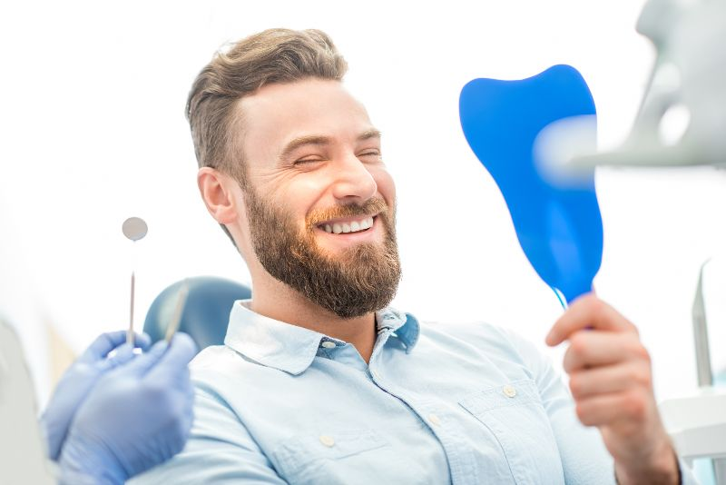 young boy getting teeth checked