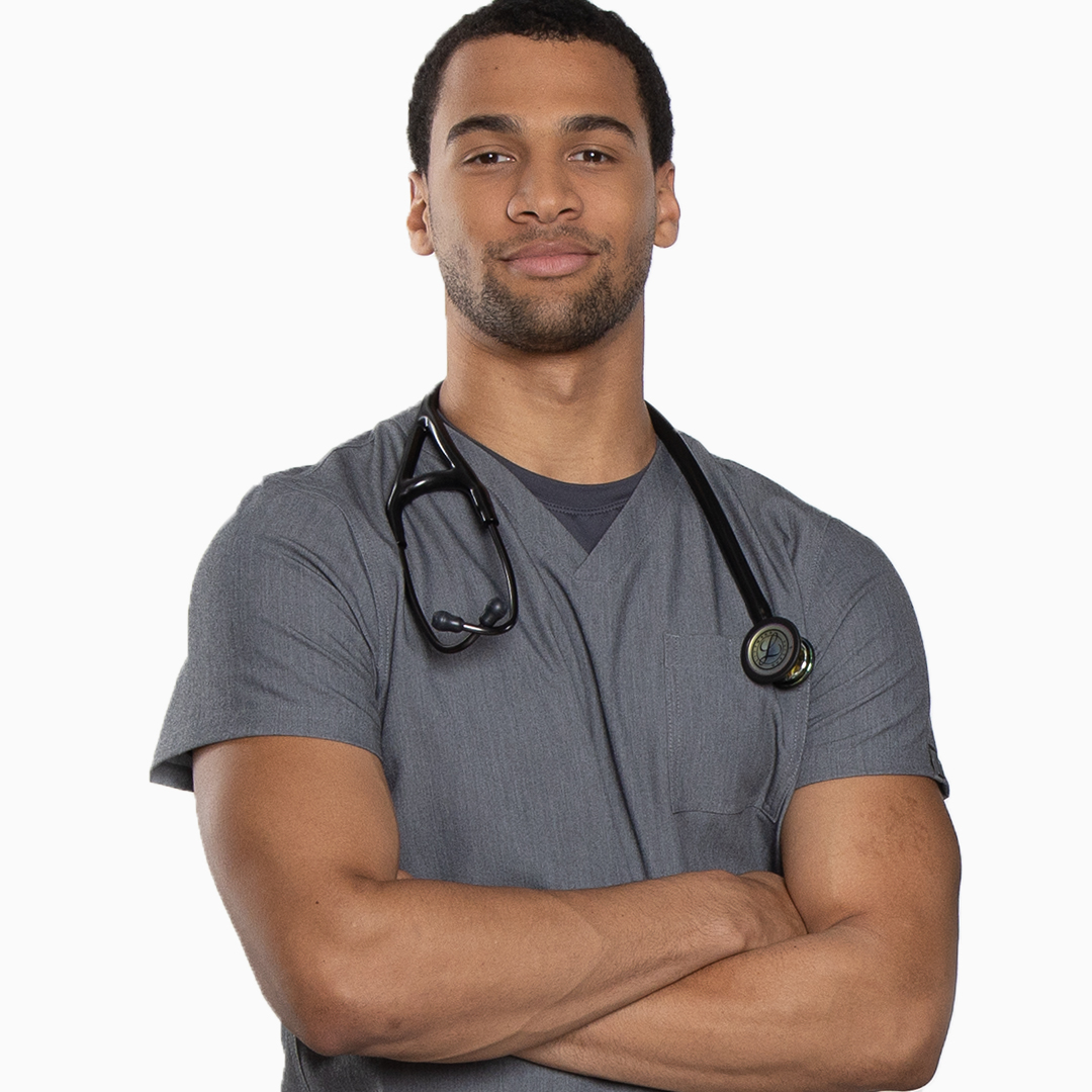 Doctor standing proud in RothWear scrubs