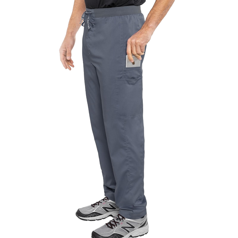 Hutton Straight leg scrub pant in the color pewter