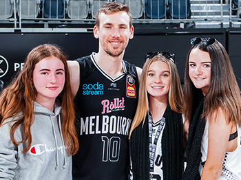 Mitch Mccarron with Melbourne United