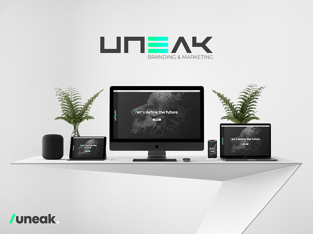 Realisatie uneak webdesign website laten maken branding and marketing agency mechelen