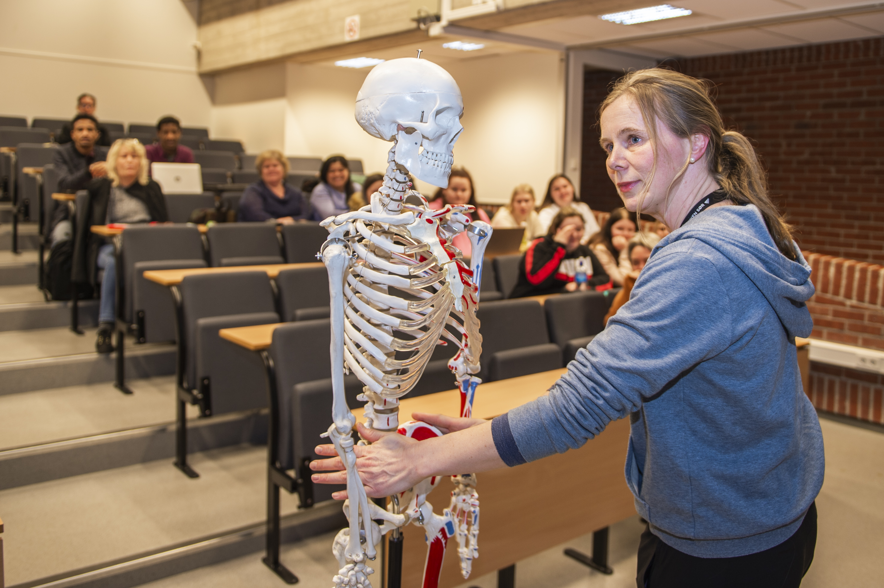 Bilde fra undervisning i helsefag