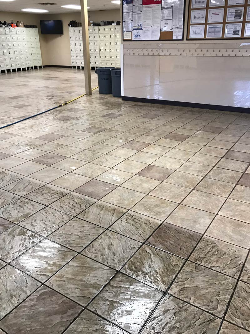 Tile and grout cleaning by Deep Clean