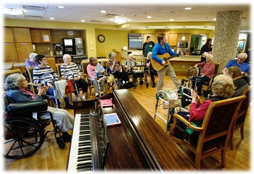 Therapeutic Recreation and Music Therapy in our Special Care Unit for Advanced Memory Support