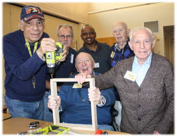 Men's Woodworking is a fun-filled group in the Adult Day Program