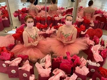 Ballerinas from the New England Academy of Dance in New Canaan...