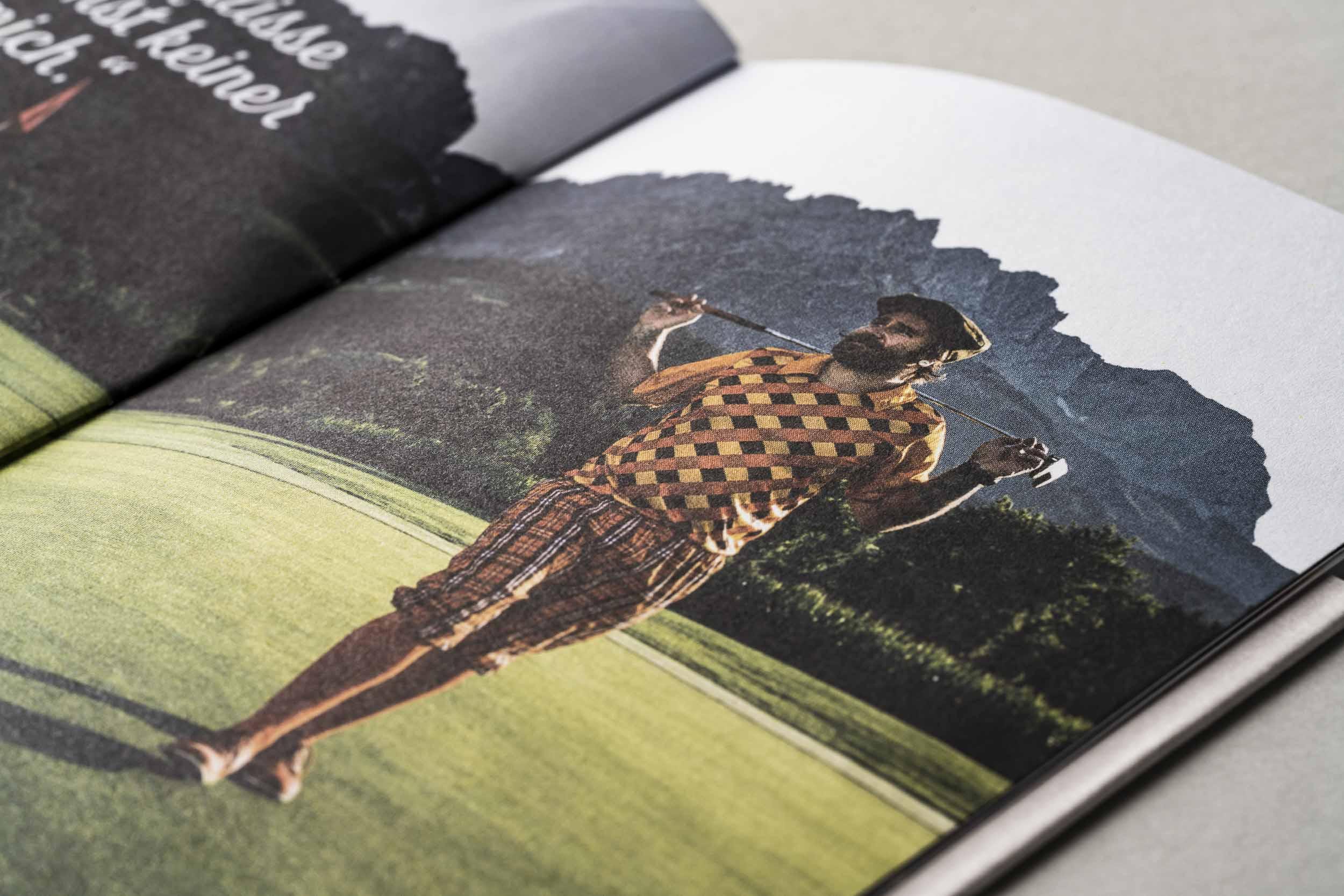 """Detailausschnitt des Imagebildes """"Golfer"""" im Föhrenhof-Imagefolder."""